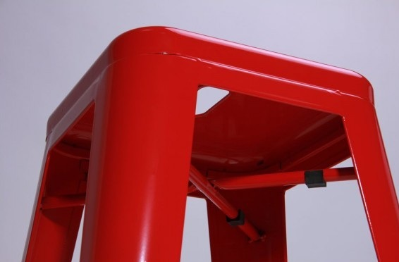 Табурет Хокер Loft Metal Красный4