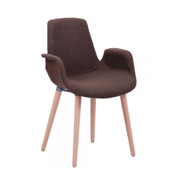 кресло leonar коричневый